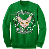 Cornish Rex Cat Ugly Christmas Sweater.