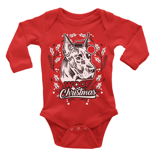 Great Dane Ugly Christmas Onesie.