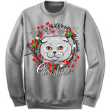 Highland Fold Cat Ugly Christmas Sweater.