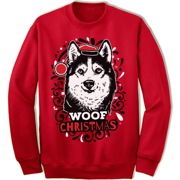 Siberian Husky Ugly Christmas Sweater