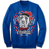 Mastiff Ugly Christmas Sweater.
