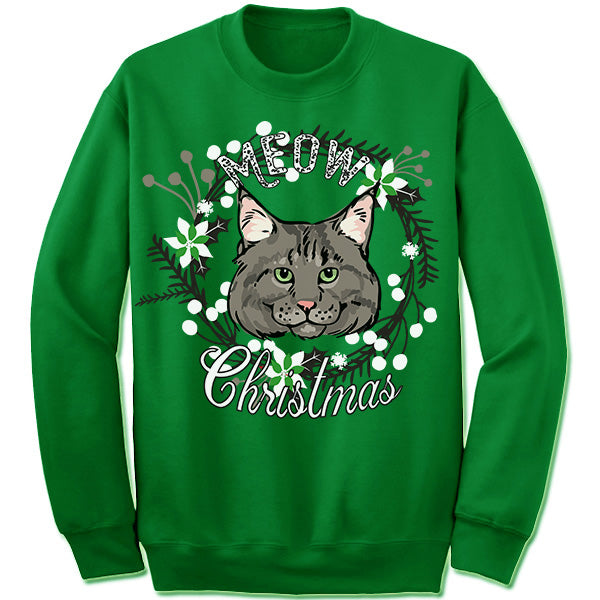 Maine Coon Cat Ugly Christmas Sweater