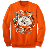 Persian Cat Ugly Christmas Sweater.