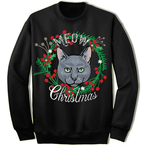 Russian Blue Ugly Christmas Sweater