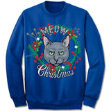 Russian Blue Ugly Christmas Sweatshirt