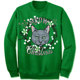 Russian Blue Ugly Christmas Sweater.