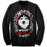 Siberian Husky Ugly Christmas Sweater.
