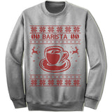 Barista Ugly Christmas Sweater.