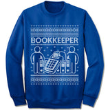Bookkeeper ugly christmas sweatshirt