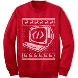 Coder Ugly Christmas Sweatshirt