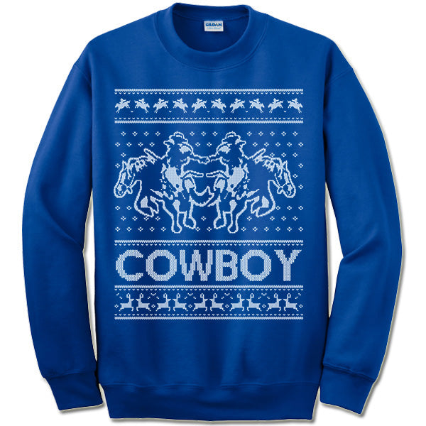 the best attitude aba02 a536a Cowboy Ugly Christmas Sweater.