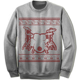 Drummer Ugly Christmas Sweater.