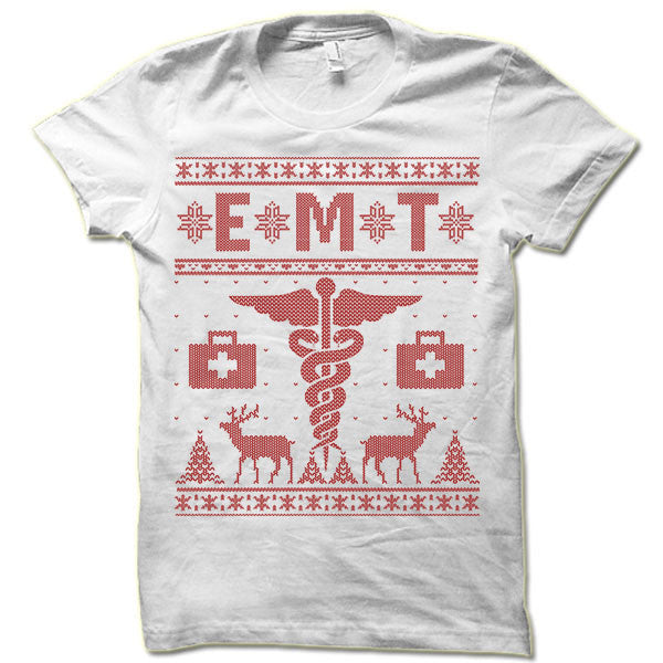 EMT Christmas Ugly T-Shirt.