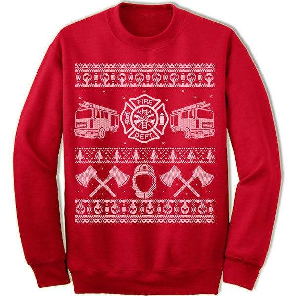 Firefighter Ugly Christmas Sweater.
