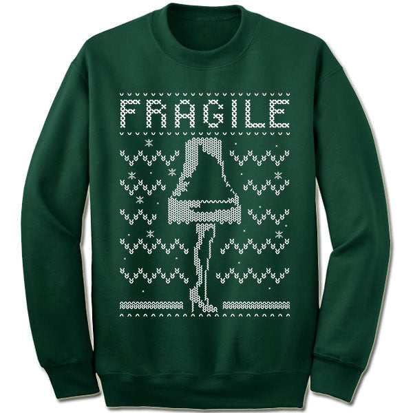 Fragile Leg Lamp Ugly Christmas Sweater.