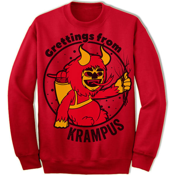 ba6a7fdcd5 Greetings From Krampus Sweater. – Merry Christmas Sweaters