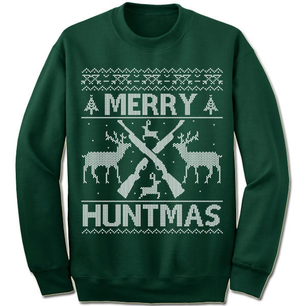 Merry Huntmas Ugly Christmas Sweater.