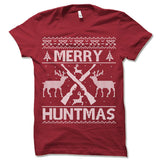 Merry Huntmas Ugly Christmas T-Shirt.