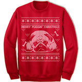 Merry Puggin' Christmas Ugly Sweater.