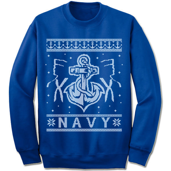 navy ugly christmas sweater