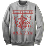 Navy Ugly Christmas Sweater.