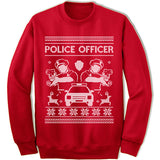 Police Officer Ugly Christmas Sweater.