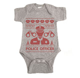 Police Officer Ugly Christmas Onesie.