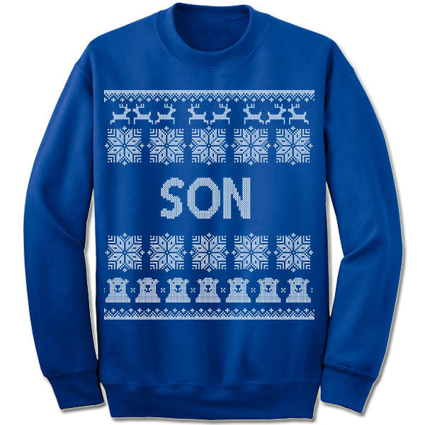 Son Ugly Christmas Sweater.