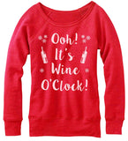 Wine O'Clock Off The Shoulder Sweatshirt.