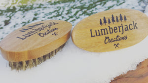 Bamboo boar hair beard brush
