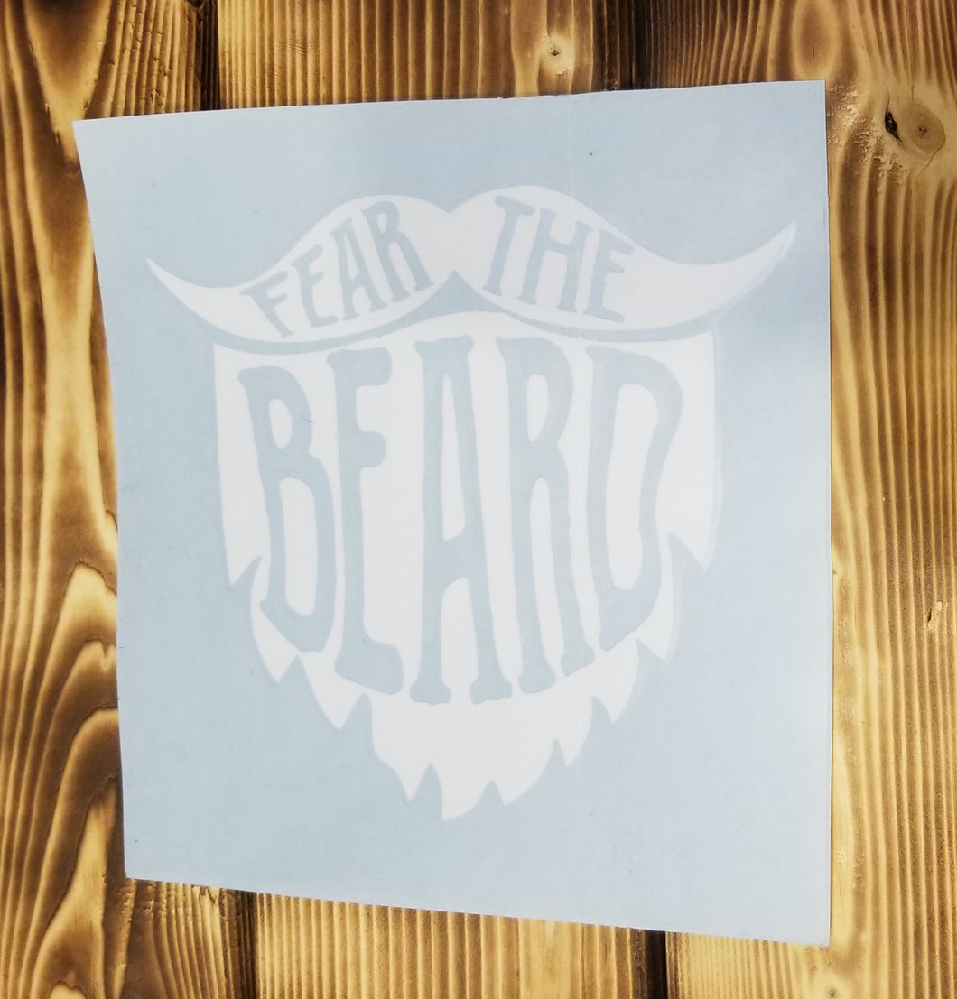 Fear The Beard Decal