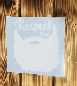 Respect The Beard Decal
