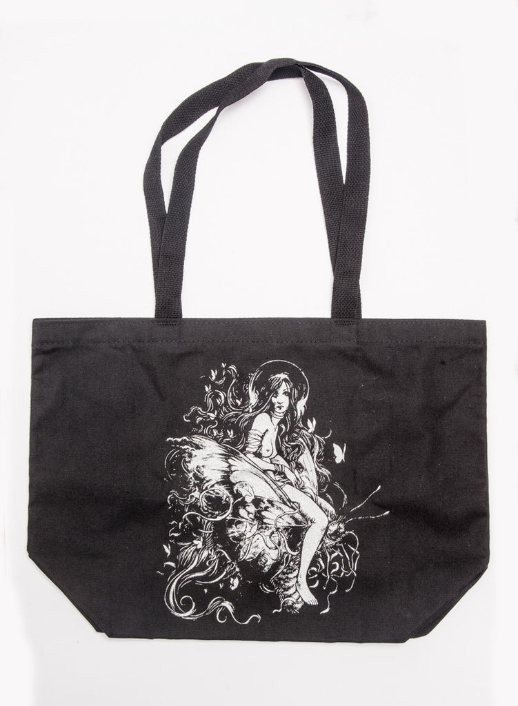 Drifting Atop Dizzying Wings: BookWorm Tote