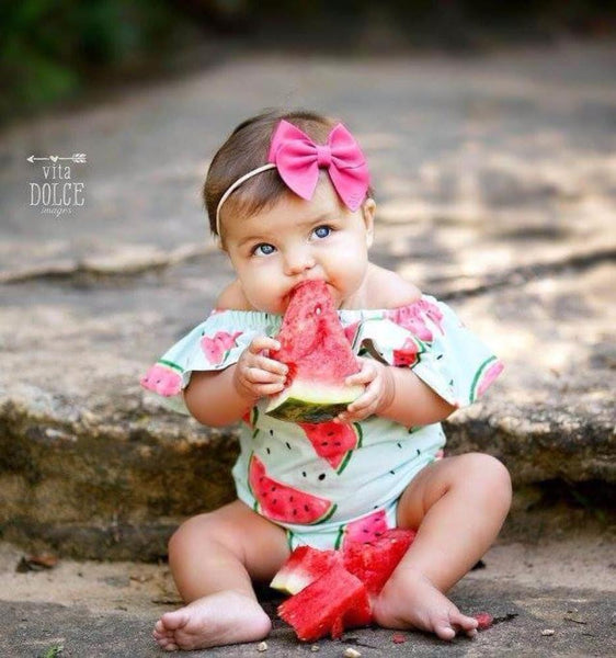 Watermelon Flutter Sleeve Romper