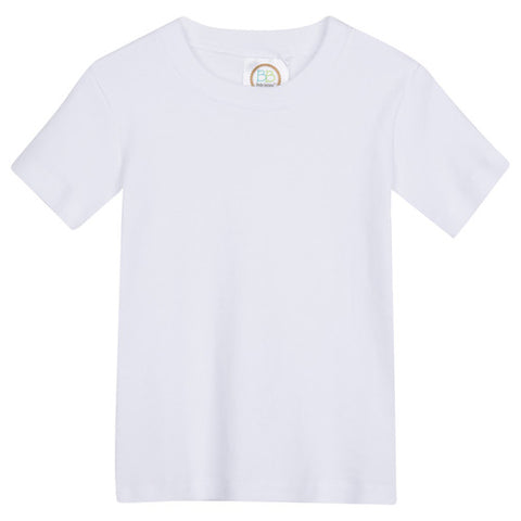 Boys Monogrammed Short-Sleeved White Shirt