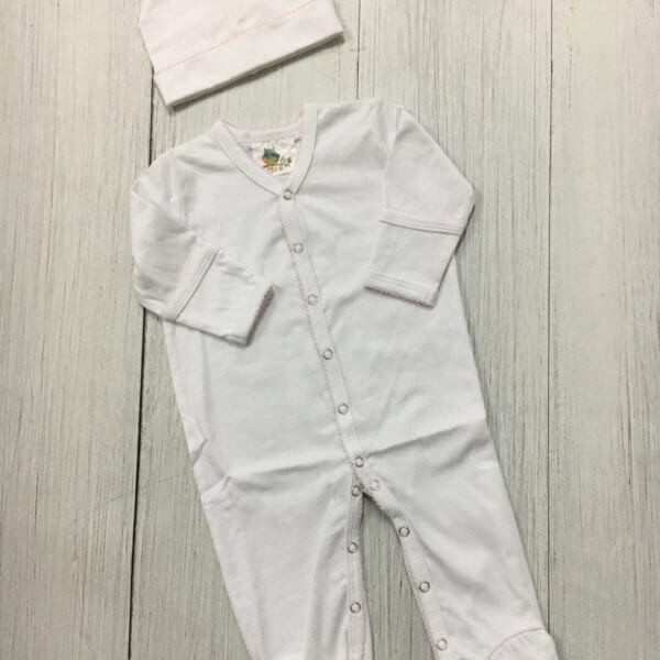 Monogrammed Girls Organic Cotton Romper