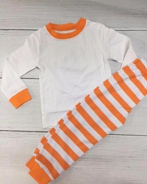 Orange and White Striped PJs