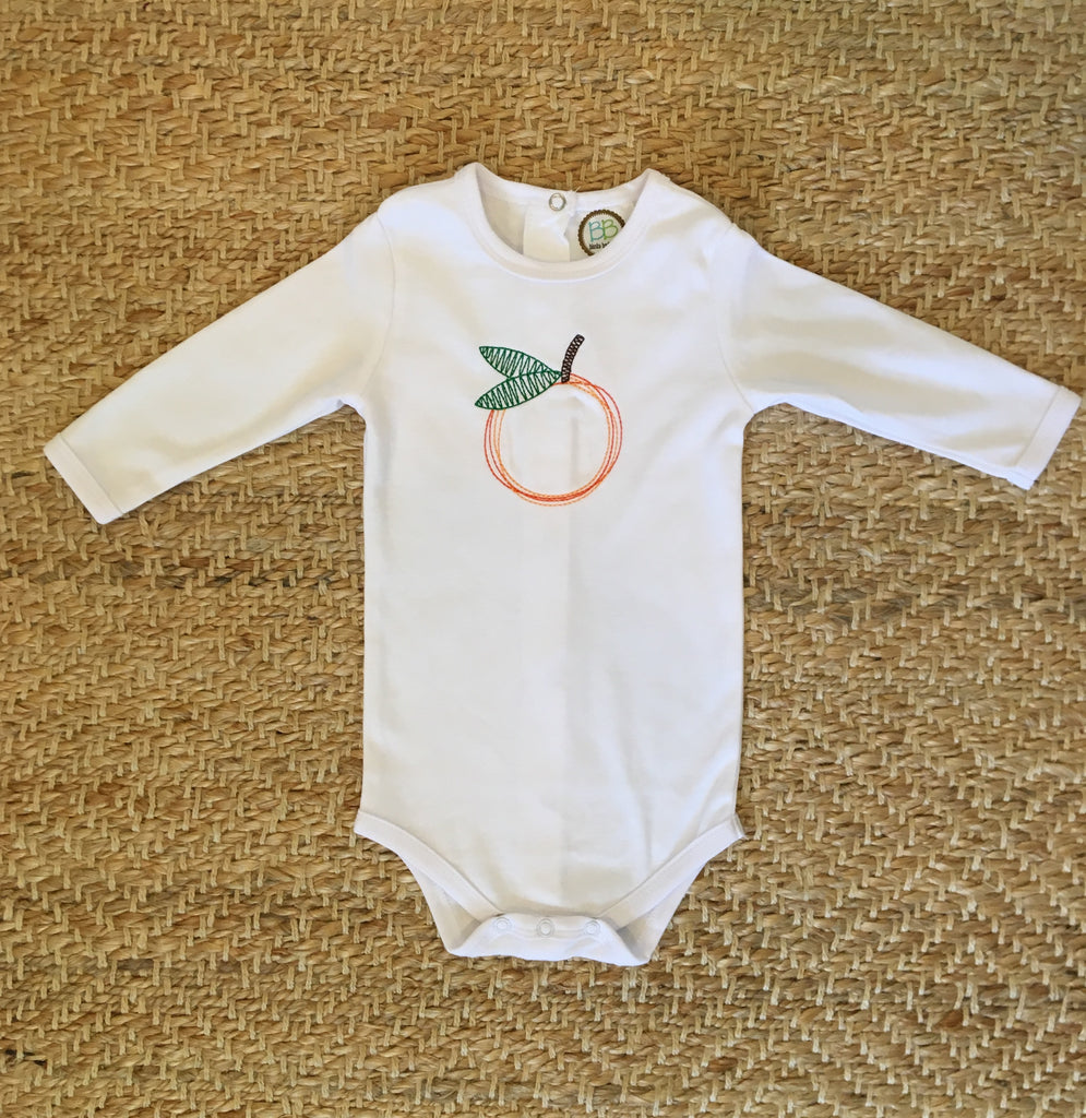 Little Orange Embroidery Design Onesie