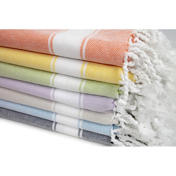 Turkish Striped Hand Towel- Multiple Colors Available