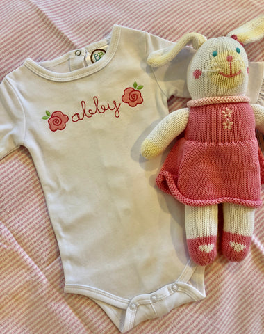 Rose Embroidery Design Onesie