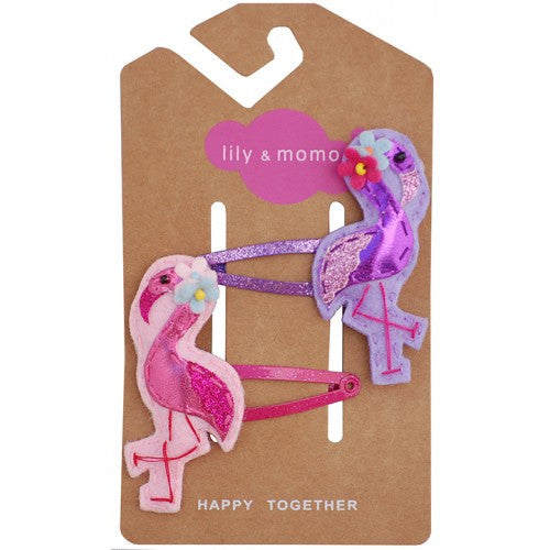 Fancy Flamingo Hair Clips