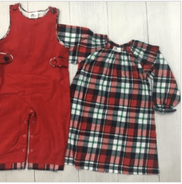 Boys Corduroy Longall with Plaid Lining