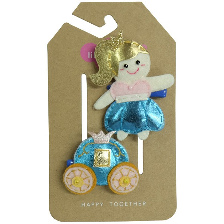 Princess and Carriage Hair Clips