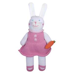 Pish-Posh Harriet the Bunny Hand-Knit Stuffed Doll by Zubels