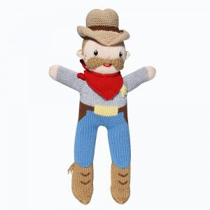Sam the Sheriff Hand-Knit Stuffed Doll by Zubels