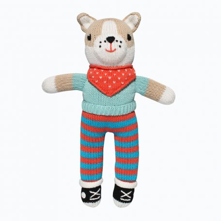 Charlie the Chihuahua Hand-Knit Stuffed Doll by Zubels