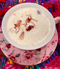 Power Latte Mix: A nourishing mix of Saffron, Rose, Warming Spices and Nuts for Lattes, Smoothies and baking!!