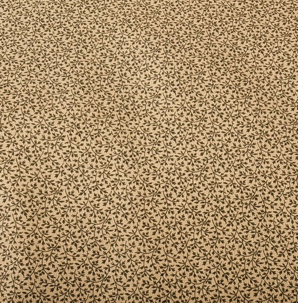 Brown/Neutral: Antique cotton Calico by Pam Buda 2347