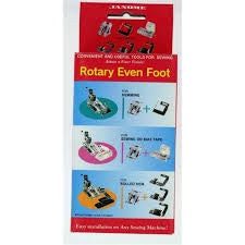 Janome Rotary Even Foot and attachments\a