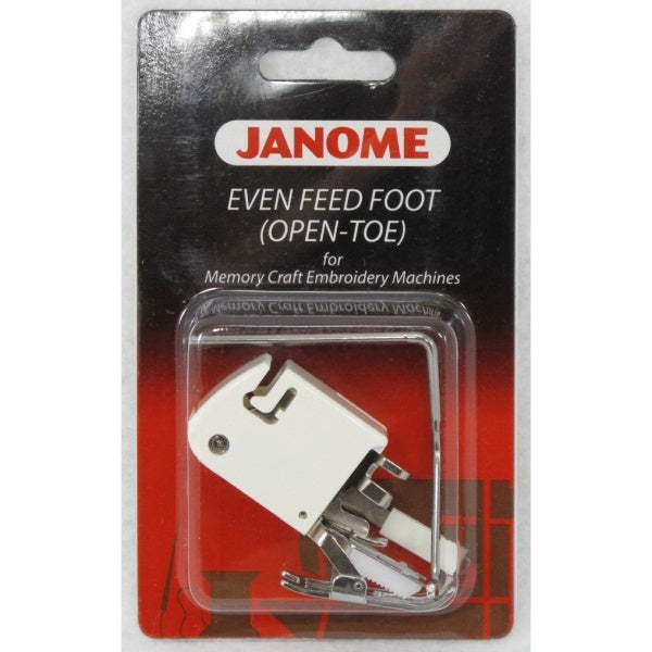 Janome Even feed foot (open toe) MC embroidery machines